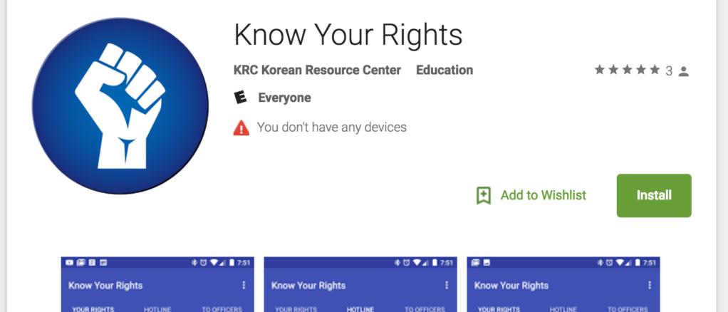 Aplicaciòn Know Your Rights