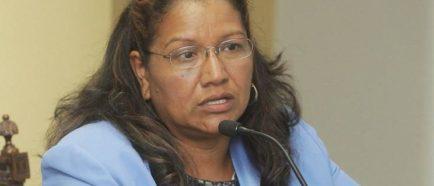 La viceministra para los Salvadoreños en el Exterior, Liduvina Magarín. EFE:Archivo