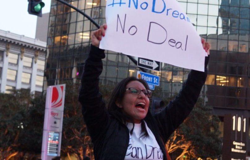 Dreamer Dulce García protesta