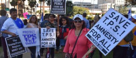 activistas protestas TPS