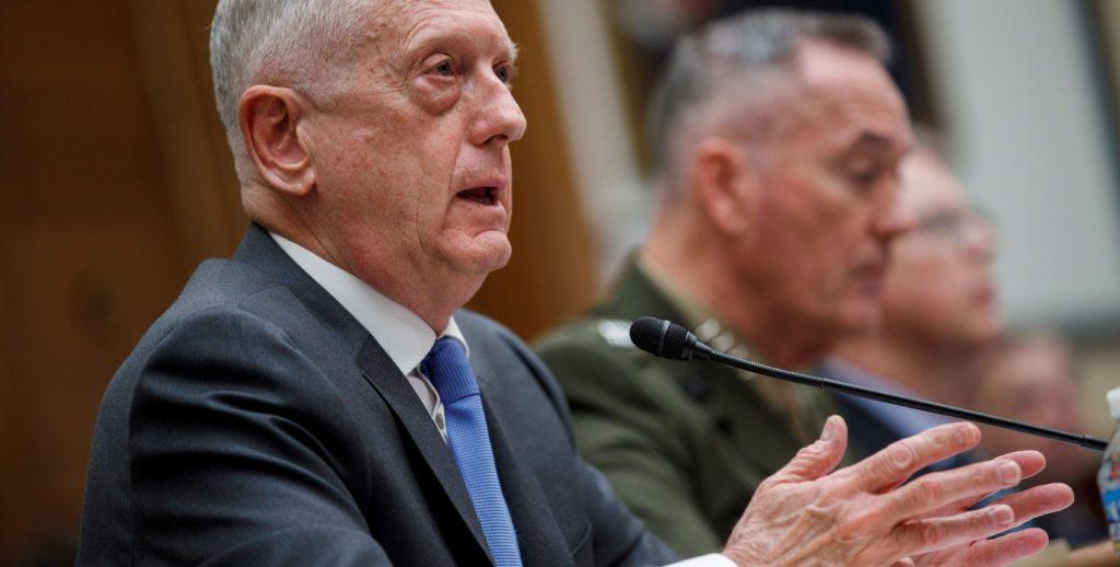Pentagono secretario de Defensa estadounidense, Jim Mattis