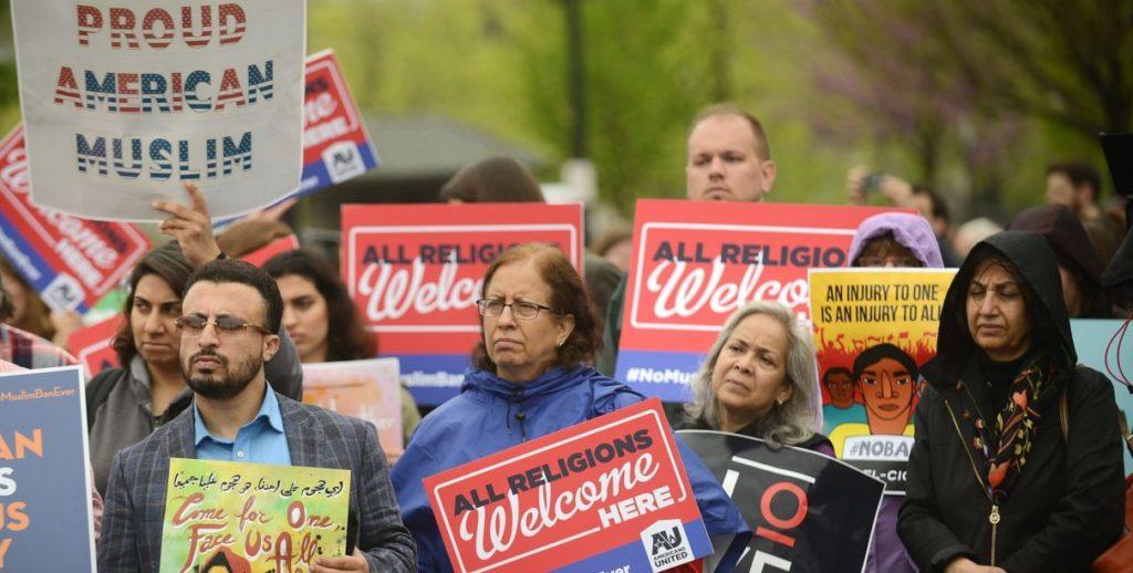 manifestantes supremo musulmanes veto refugiados