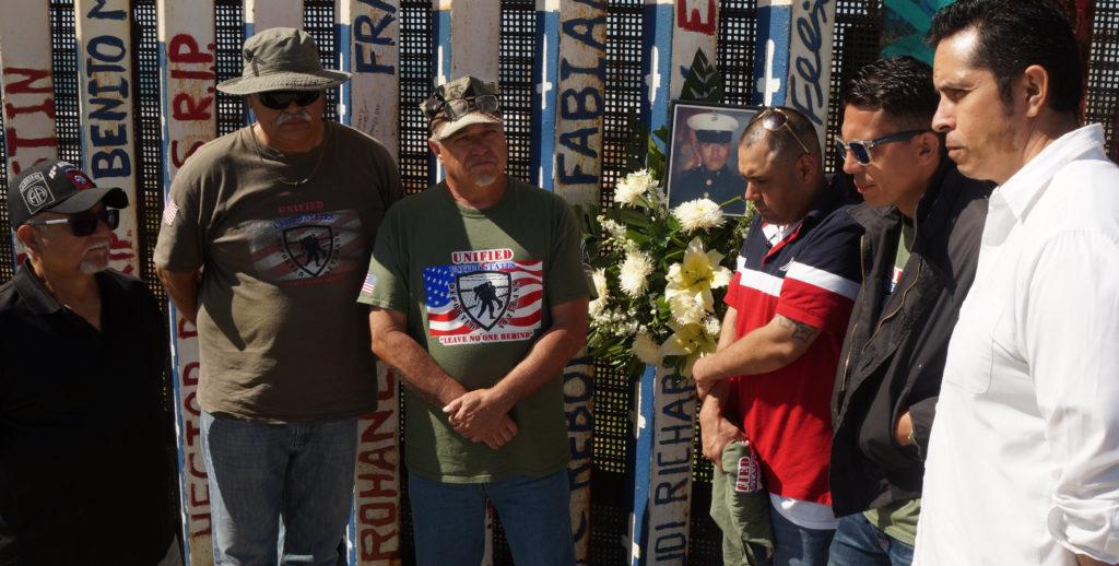 Homenaje a veterano Salas en el muro