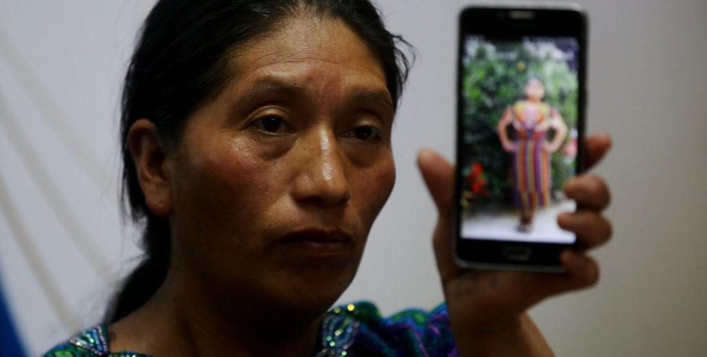 Tia de guatemalteca muerta