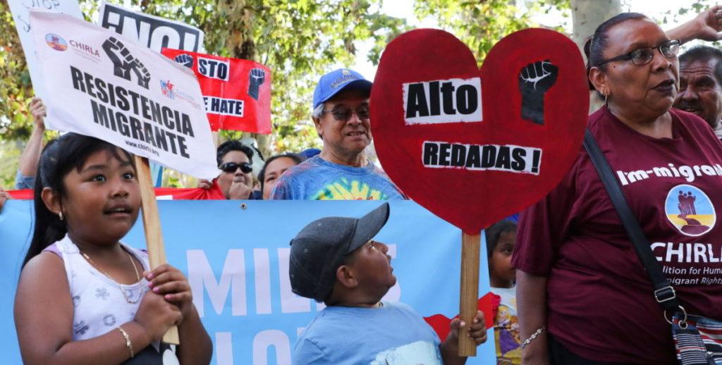 Protesta separaciondefamilia inmigrantes menores