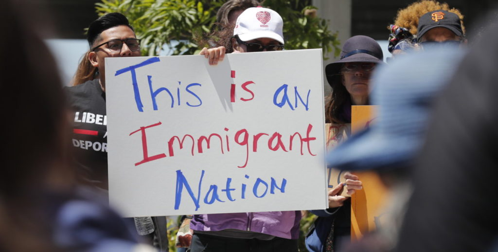 Protesta inmigrantes