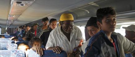 La Caravana migrante que recorre México llega a Puebla
