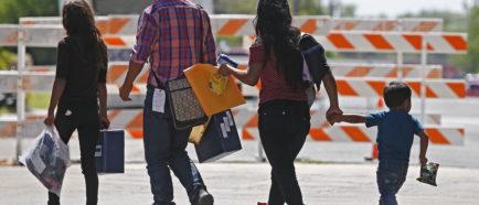 Inmigración a lo largo de la frontera de Texas, México