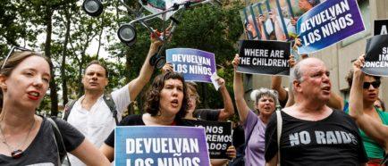 Protestas por las políticas de inmigración de la administración Trump