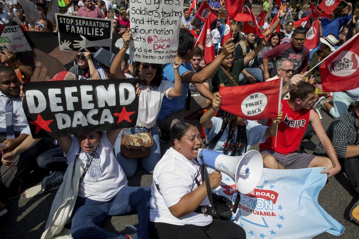 PROTESTA CONTRA LA ELIMINACIÓN DEL PROGRAMA DACA EN WASHINGTON