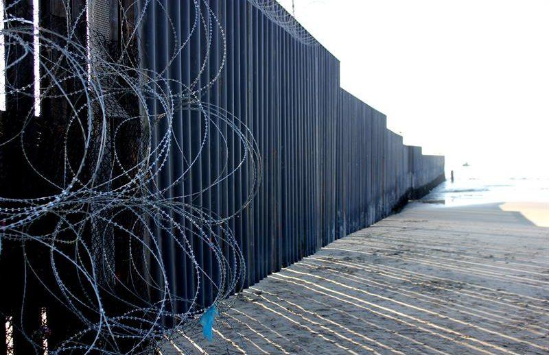 muro en la frontera sur