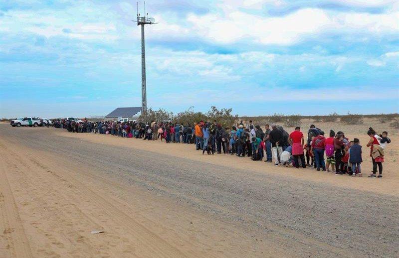 Arresto masivo en la frontera