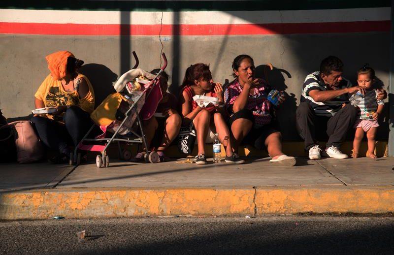 Inmigrantes en caravana