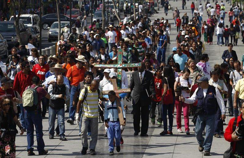 Caravana en ciudad de México