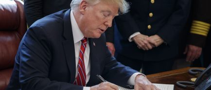US President Donald J. Trump signs veto of legislation to strike down his national emergency declaration at the southern border